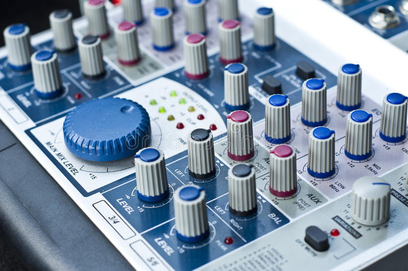 Download Sound control system. stock image. Image of closeup, electronic - 31069641