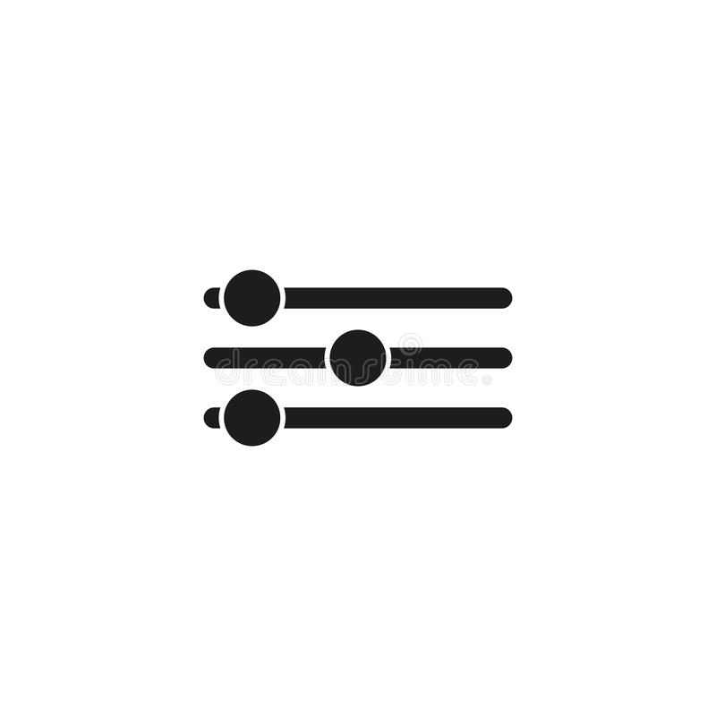 Sound control vector icon royalty free illustration