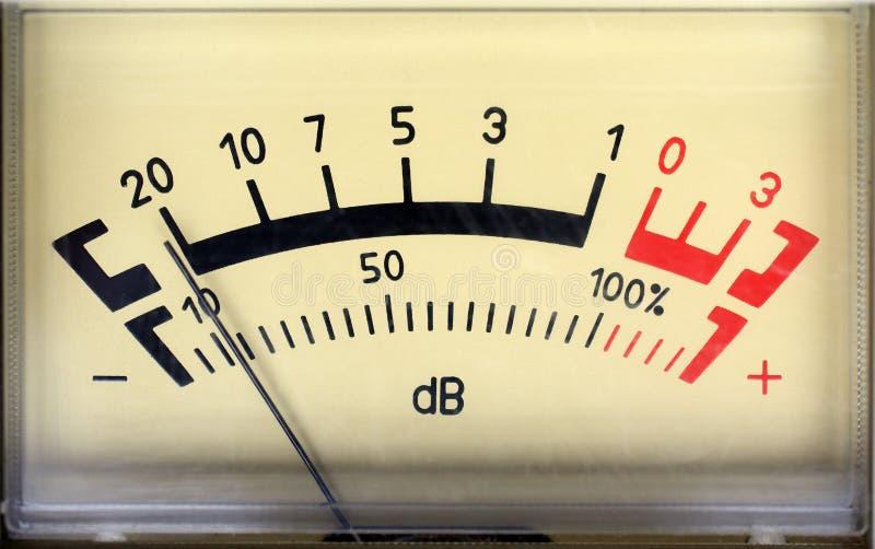 Sound decibel meter. Decibel meter - part of sound equipment royalty free stock photos