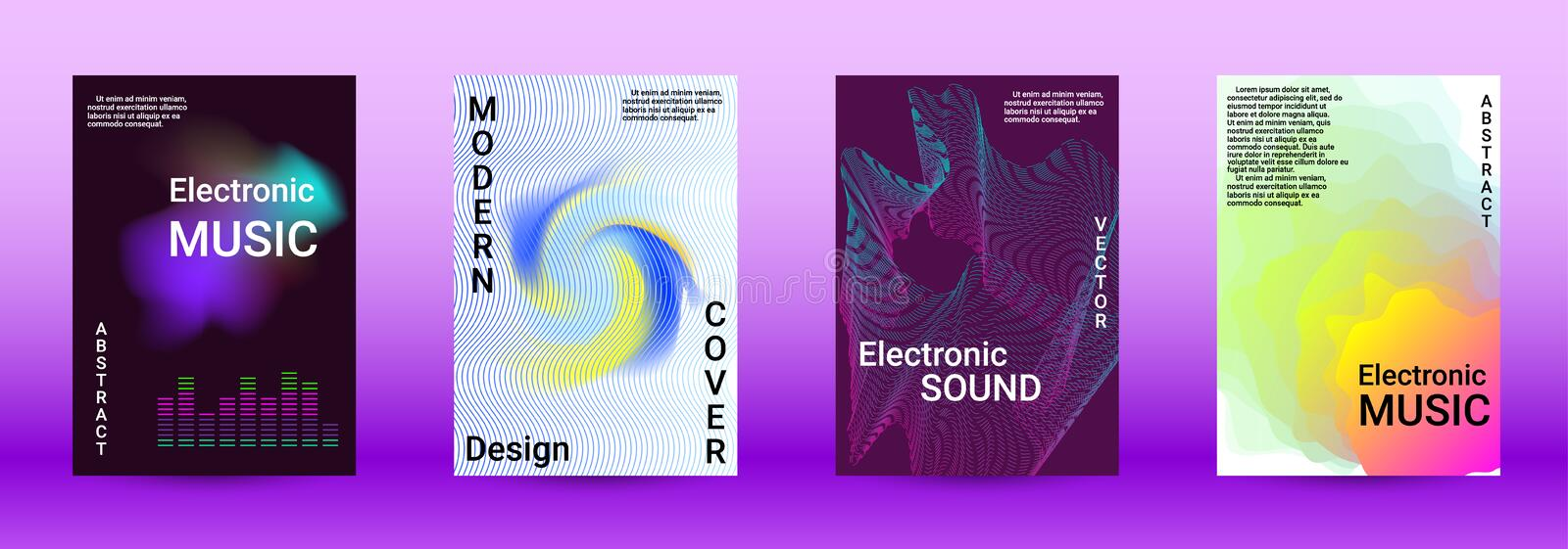 Sound flyer stock photography