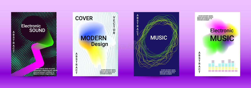 Sound flyer vector illustration