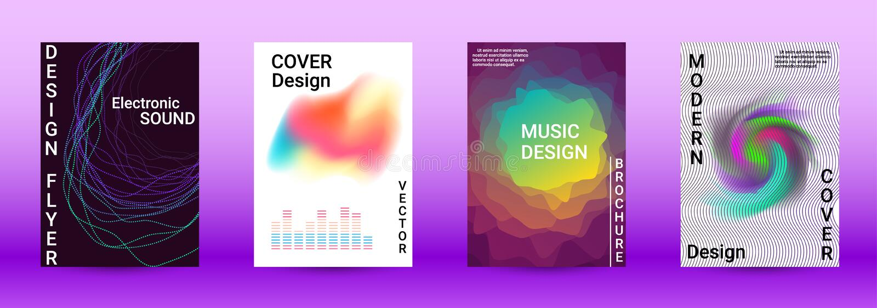 Sound flyer royalty free illustration