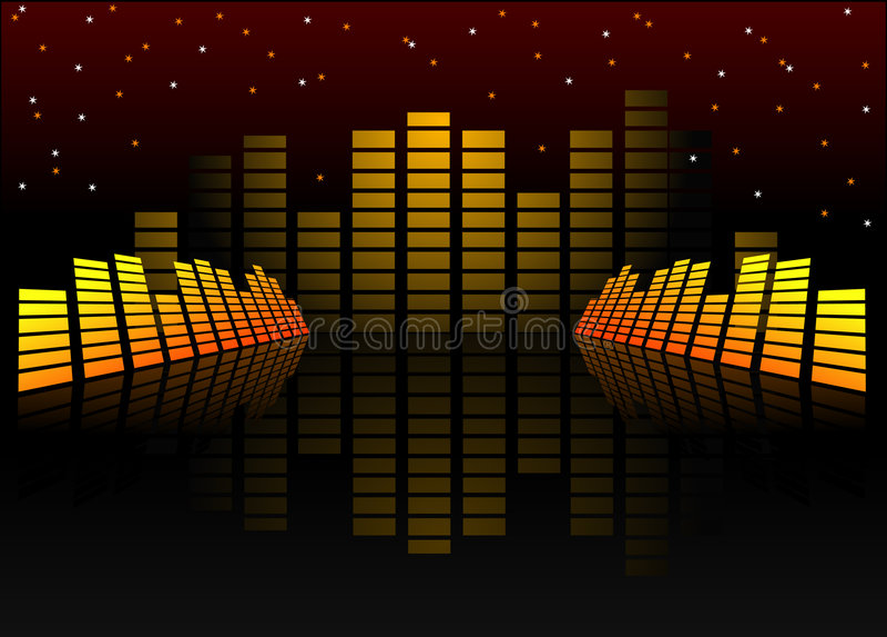 Sound graphs vector illustration