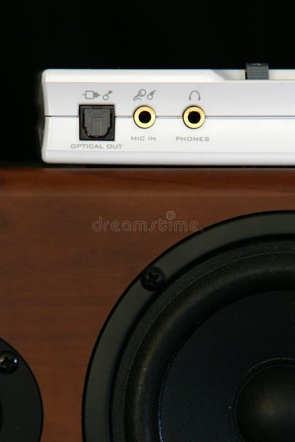 sound högtalare för kort royaltyfri foto
