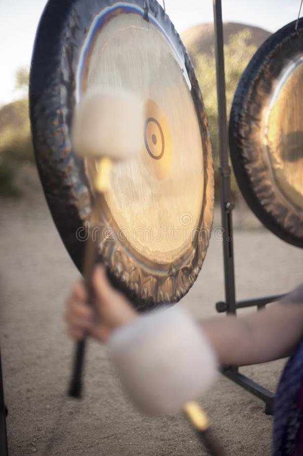 Sound Healing Gongs. Gongs waiting to be played. The Gong is one of man's most powerful and oldest transformational and stock photos