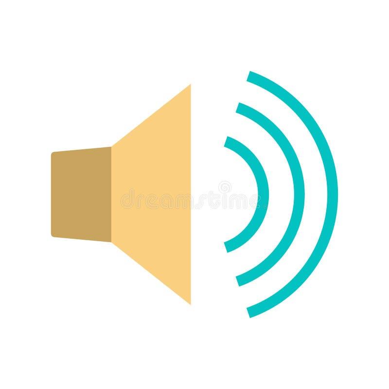 Sound icon. Noice and volume symbol. Audio speaker royalty free illustration