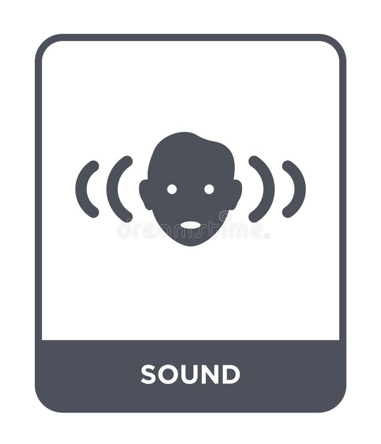 sound icon in trendy design style. sound icon isolated on white background. sound vector icon simple and modern flat symbol for royalty free illustration