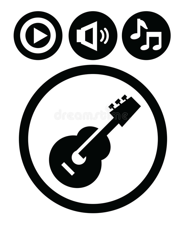 Download Sound icons stock vector. Image of equipment, music, pictogram - 28826273