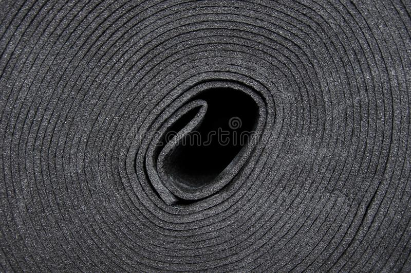 Sound insulation material, laid on the floor before concreting. royalty free stock images