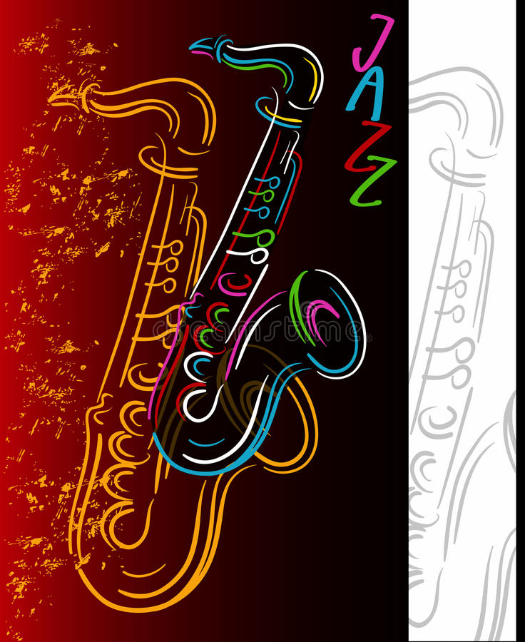 Sound of jazz royalty free illustration