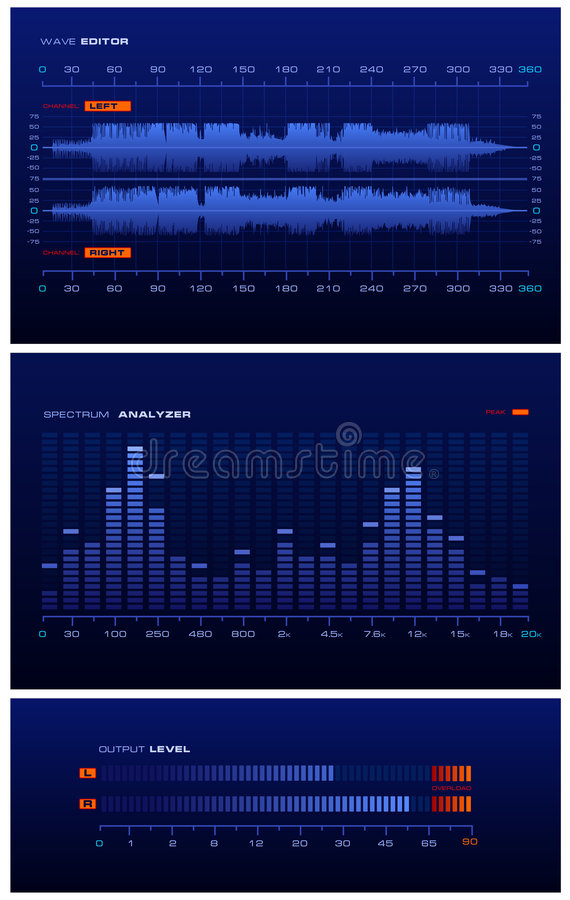 Download Sound Lab - blue stock vector. Image of blue, dashboard - 2922067