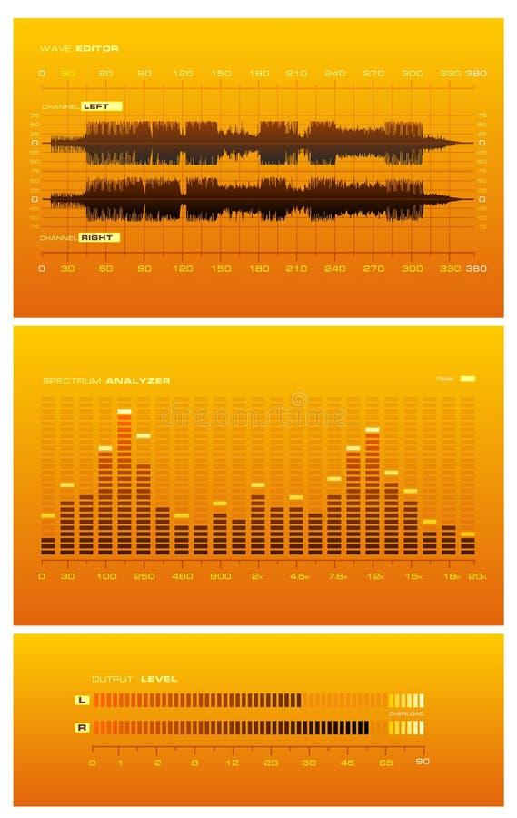 Download Sound Lab - orange stock vector. Image of dashboard, board - 3043449