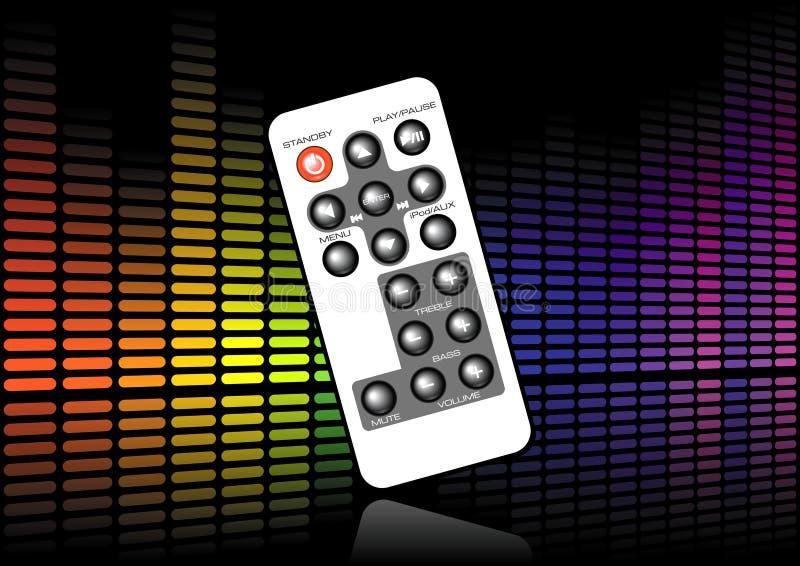 Sound level remote stock illustration
