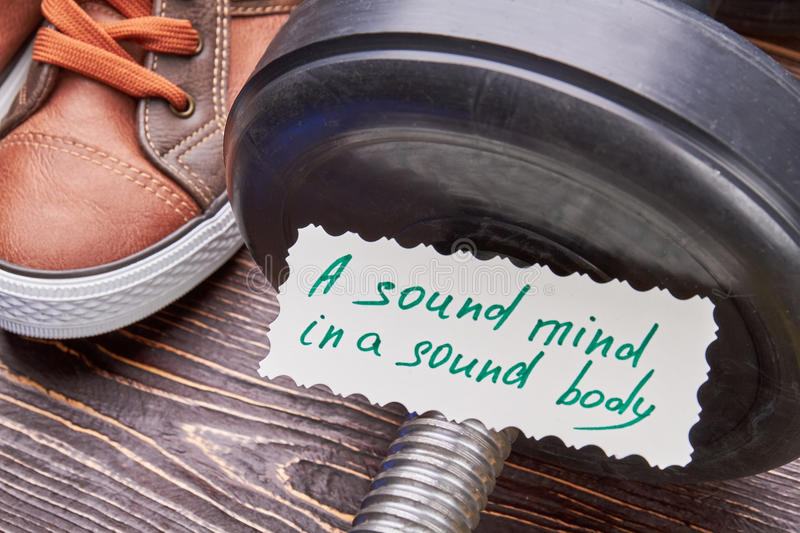 Sound mind in a sound body. royalty free stock photography