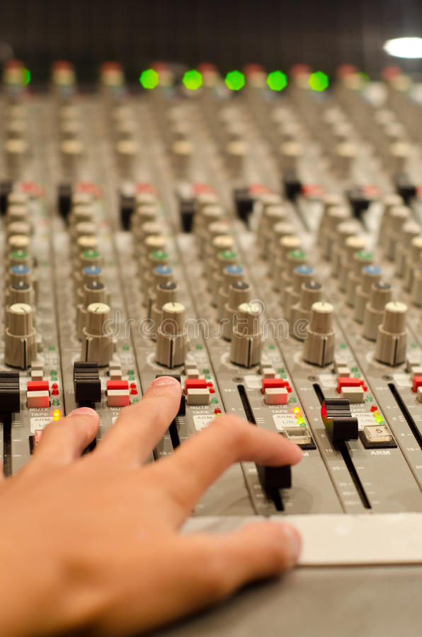 Sound mix board stock photo