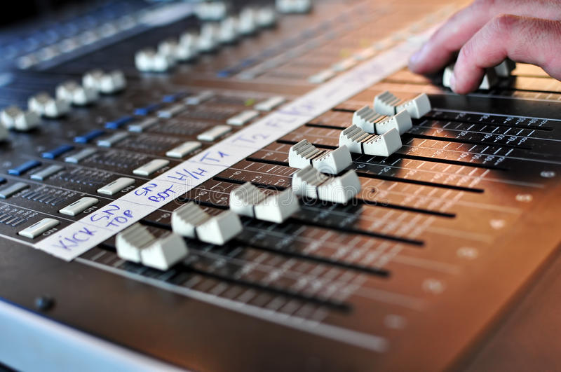 Download Sound mix board stock photo. Image of fader, electronic - 27477232