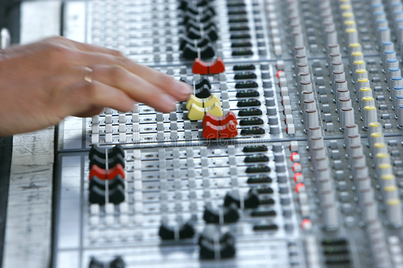 Download Sound mixer stock photo. Image of multiple, line, console - 1395408