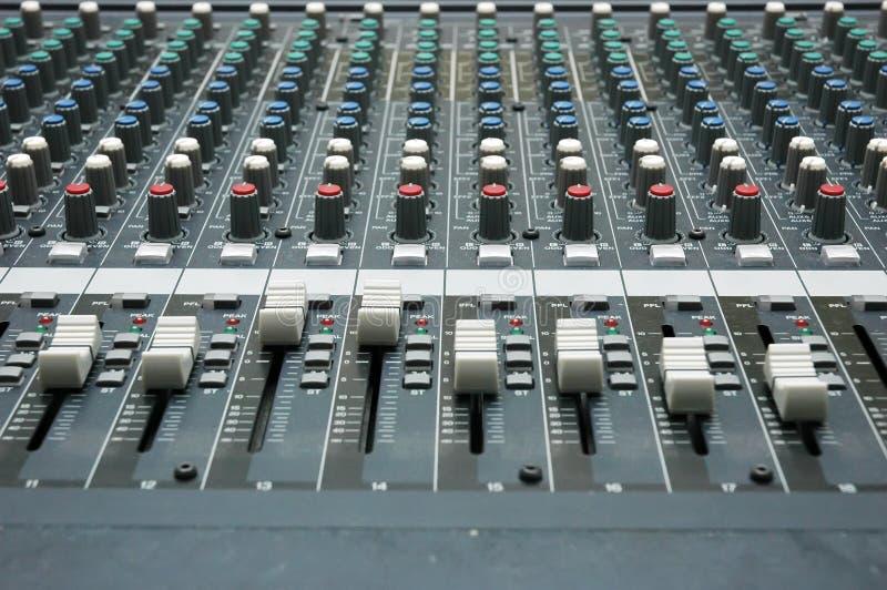 Sound mixer stock image