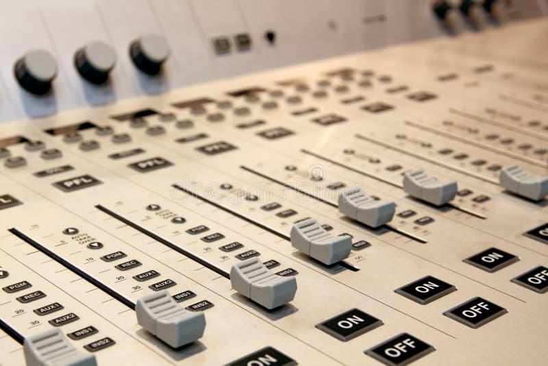 Download Sound mixer stock image. Image of fader, controls, closeup - 19873497
