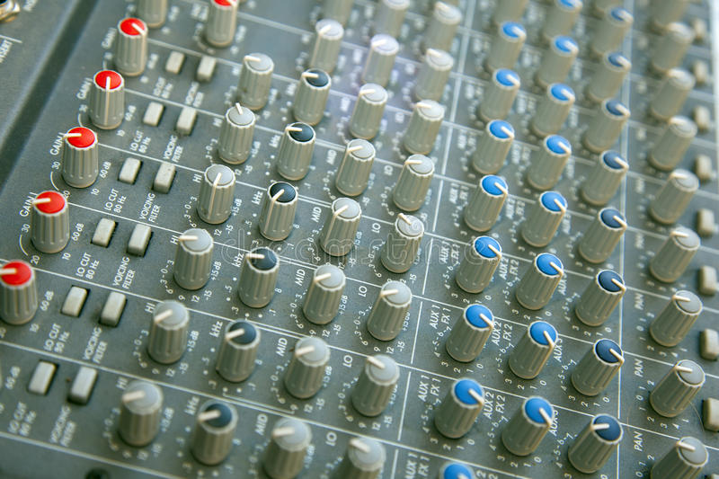 Download Sound mixer stock photo. Image of portable, fader, panel - 22205124