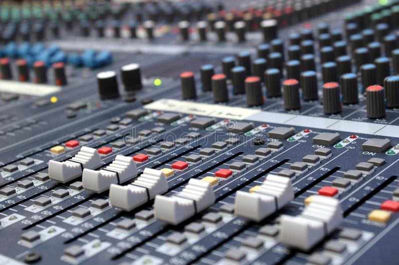 Sound mixer royalty free stock image