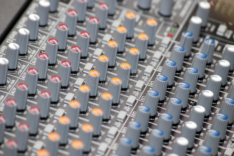 Download Sound mixer stock image. Image of panel, broadcasting - 26233813