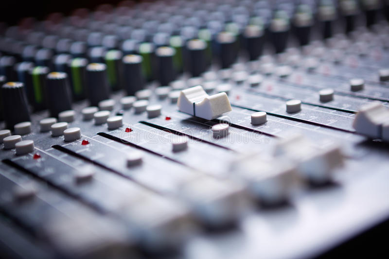 Download Sound mixer stock image. Image of level, close, mixer - 28804193