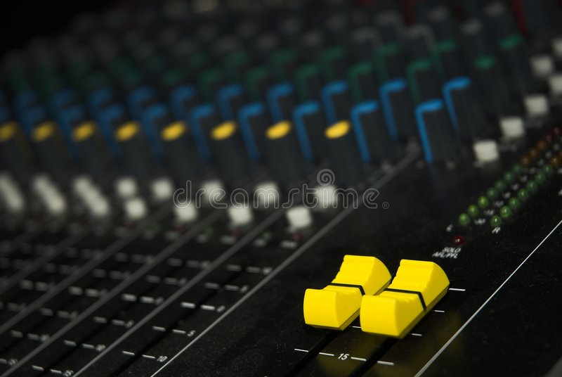 Sound mixer board royalty free stock images