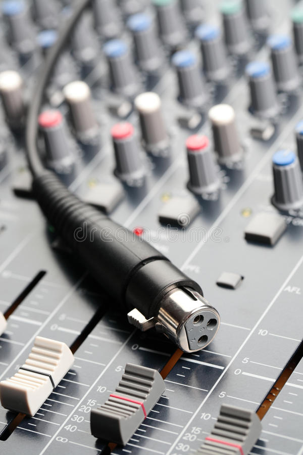 Download Sound Mixer and Cable stock photo. Image of technology - 13156198