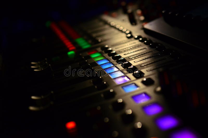 Sound Mixer stock image