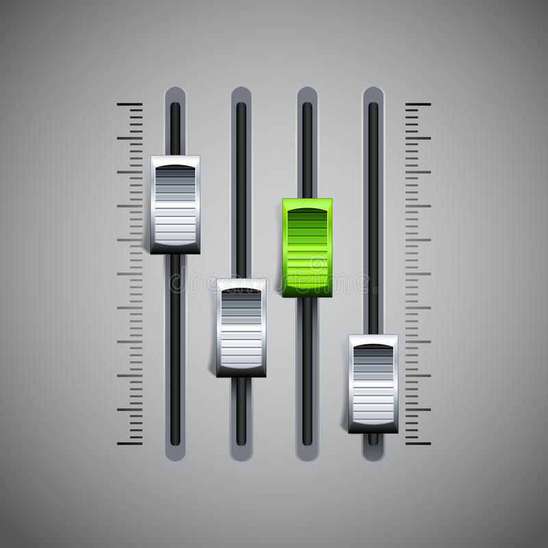 Sound Mixer Console vector illustration