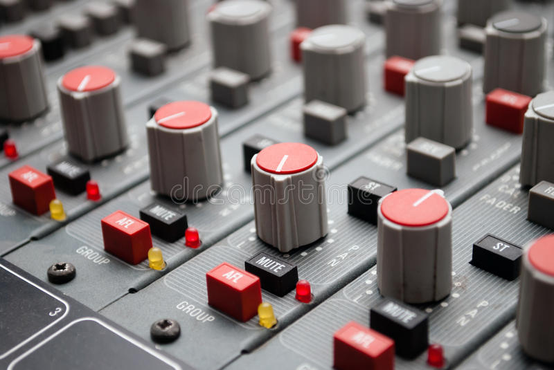 Download Sound mixer console stock illustration. Image of club - 28768307