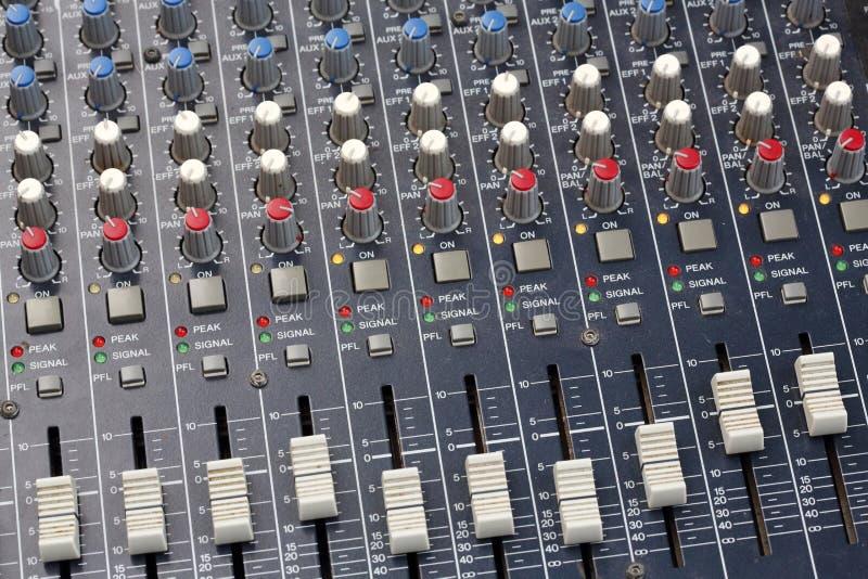 Download Sound Mixer Console stock illustration. Illustration of machine - 32812161