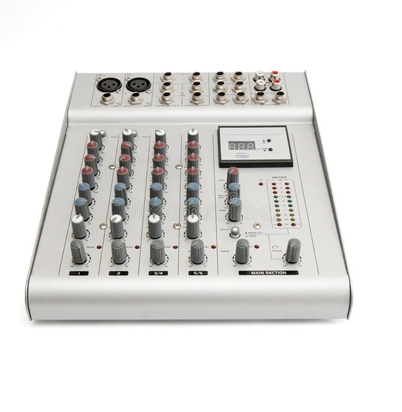 Download Sound Mixer Console Isolated Stock Image - Image: 9603649