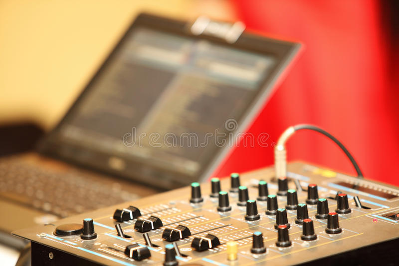 Download Sound Mixer Control Panel Audio Mixing Console Stock Image - Image: 33955851
