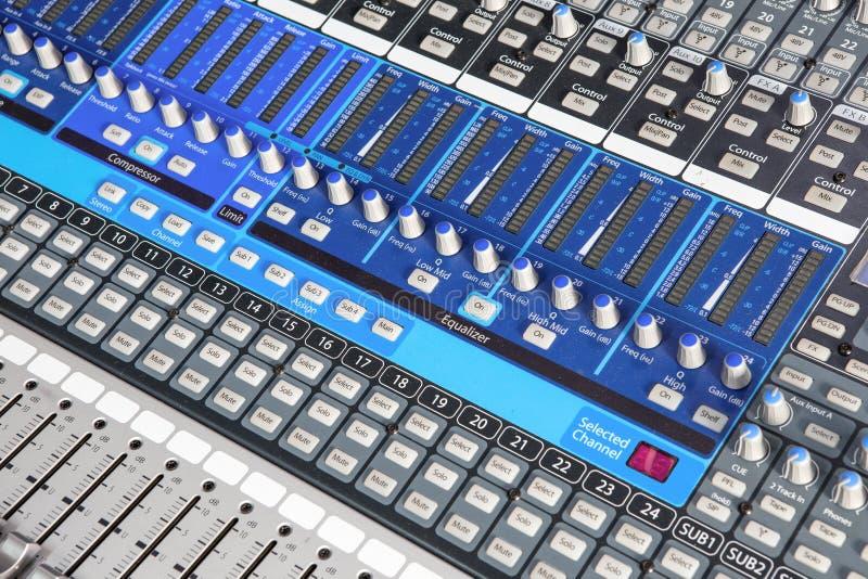 Sound mixer royalty free stock photos