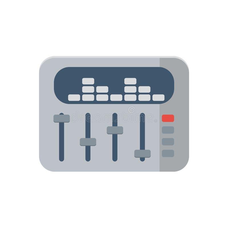 Sound mixer icon on white background, vector royalty free illustration