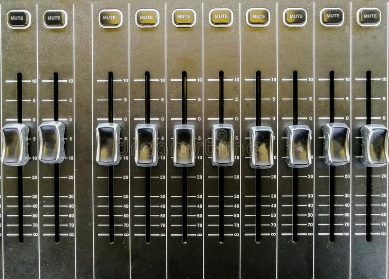 Recording Studio, Sound Mixer, Directly Above, High Angle View, Sound Recording Equipment royalty free stock photography