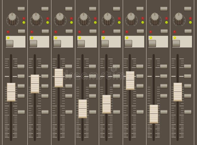 Download Sound Mixer Pult. Faders And Regulators. Stock Photos - Image: 21859563