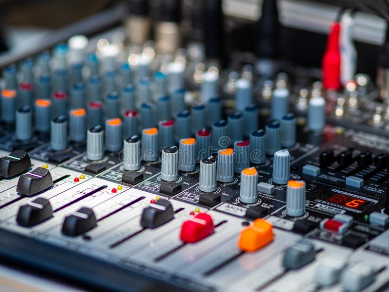 Sound mixer for rock band royalty free stock image