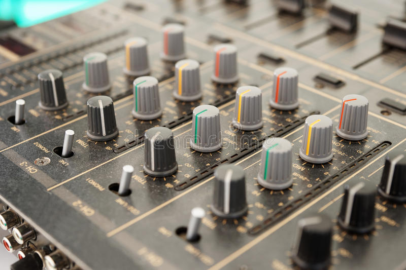 Download Sound Mixer, Selective Focus Royalty Free Stock Image - Image: 33299856