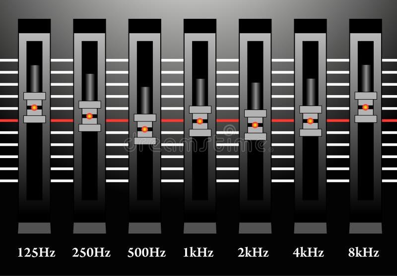 Sound mixer station royalty free illustration