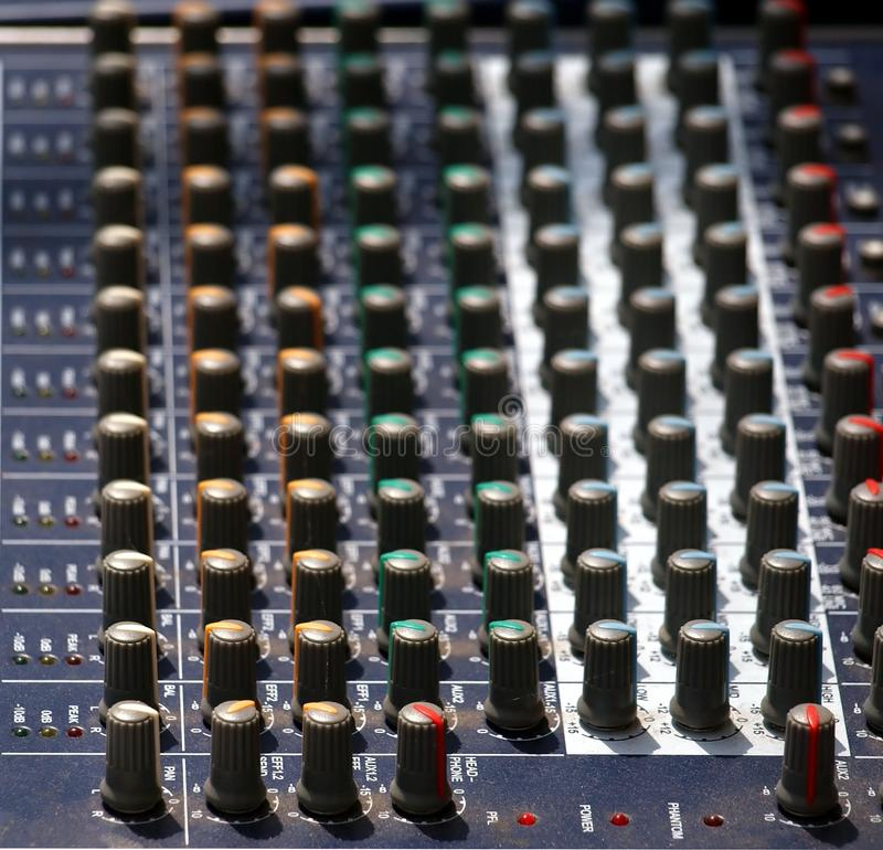 Sound Mixing Console Royalty Free Stock Image