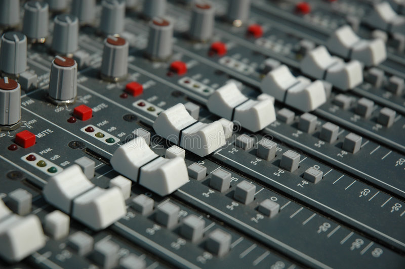 Download Sound mixing console stock image. Image of equipment, desk - 8924415