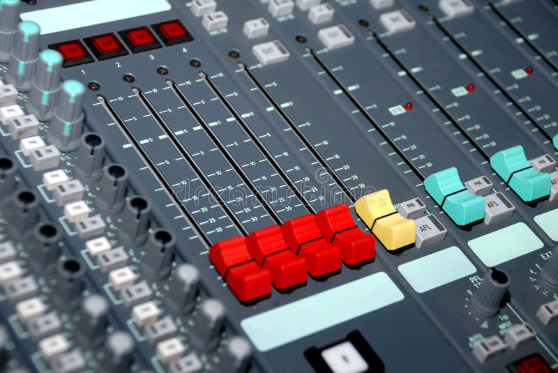 Download Sound mixing console stock photo. Image of fader, audio - 8924476