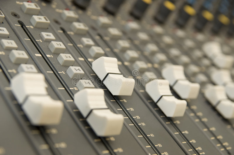 Sound and Music Mixer stock image