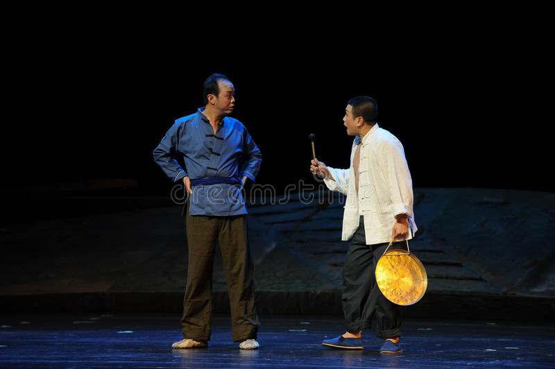 Sound the night watches - Jiangxi opera a steelyard. Jiangxi opera a steelyard is adapted from a true story: the last century fortys, the protagonists father royalty free stock image