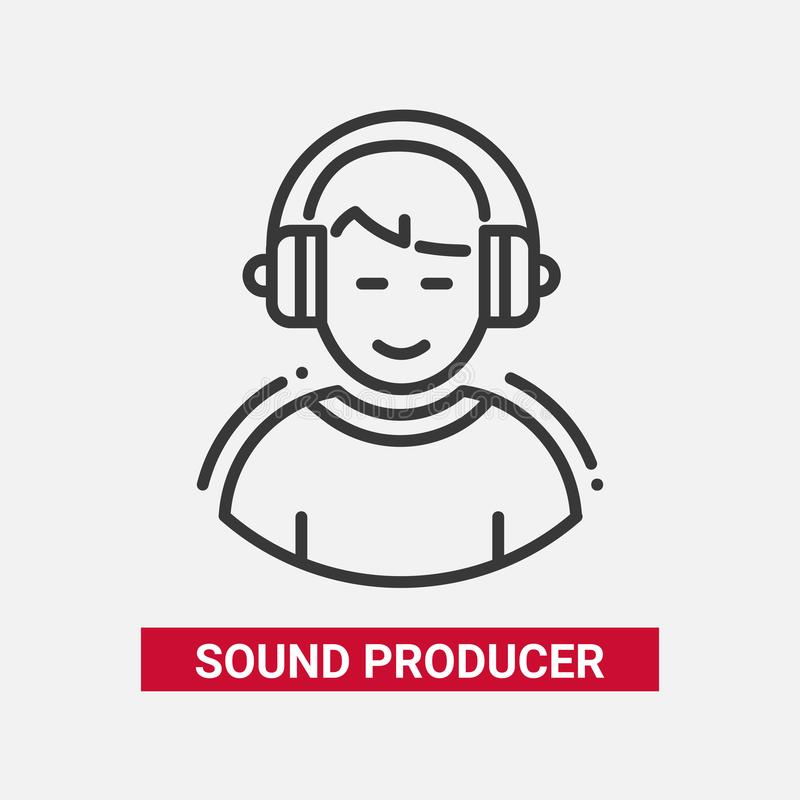 Free Sound Producer - Line Design Single Isolated Icon Royalty Free Stock Image - 105885036