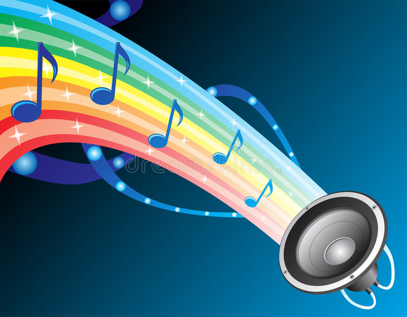 Download Sound of rainbow stock vector. Image of shape, pulse, recording - 5191767