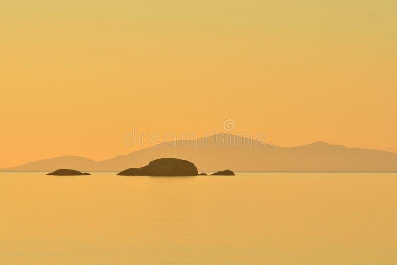 Sound of Rassay, Scotland Seascape stock image